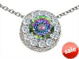 Original Star K™ Round 6mm Rainbow Mystic Topaz Pendant style: 308588