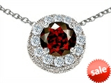 Original Star K™ Round 6mm Simulated Garnet Pendant style: 308595