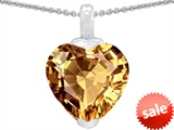 Original Star K™ 10mm Heart Shape Simulated Imperial Yellow Topaz  Pendant style: 308598