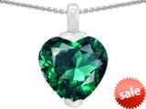 Original Star K™ 10mm Heart Shape Simulated Emerald Pendant style: 308599