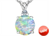 Original Star K™ Large 12mm Round Created Opal Pendant style: 308602