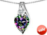 Original Star K™ Large 10mm Heart Shape Rainbow Mystic Topaz Heart Pendant style: 308624