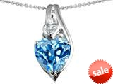 Original Star K™ Large 10mm Heart Shape Simulated Aquamarine Heart Pendant style: 308625