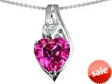 Original Star K™ Large 10mm Heart Shape Created Pink Sapphire Heart Pendant style: 308626
