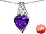 Original Star K™ Large 10mm Heart Shape Simulated Amethyst Heart Pendant style: 308627