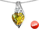 Original Star K™ Large 10mm Heart Shape Simulated Citrine Heart Pendant style: 308628