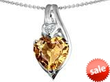 Original Star K™ Large 10mm Heart Shape Simulated Imperial Yellow Topaz Heart Pendant style: 308629