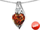 Original Star K™ Large 10mm Heart Shape Simulated Garnet Heart Pendant style: 308632