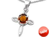 Original Star K™ Round Simulated Garnet Cross Pendant style: 308645