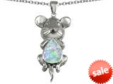 Original Star K™ Large Mouse Pendant With 11x9mm Pear Shape Simulated Opal style: 308657