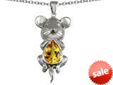 Original Star K™ Large Mouse Pendant With 11x9mm Pear Shape Simulated Citrine style: 308658