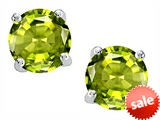 Original Star K™ Round Genuine Peridot Earrings Studs style: 308663
