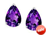 Original Star K™ 8x6mm Pear Shape Genuine Amethyst Earrings Studs style: 308679