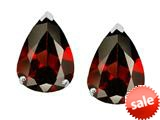 Original Star K™ 8x6mm Pear Shape Genuine Garnet Earrings Studs style: 308681