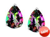 Original Star K™ 8x6mm Pear Shape Rainbow Mystic Topaz Earrings Studs style: 308684