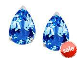 Original Star K™ 8x6mm Pear Shape Genuine Blue Topaz Earrings Studs style: 308686