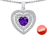 Original Star K™ 6mm Heart Shape Simulated Amethyst Heart Pendant style: 308710