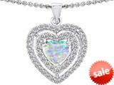 Original Star K™ 6mm Heart Shape Simulated Opal Heart Pendant style: 308711