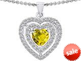 Original Star K™ 6mm Heart Shape Simulated Citrine Heart Pendant style: 308713