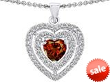 Original Star K™ 6mm Heart Shape Simulated Garnet Heart Pendant style: 308715
