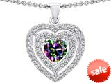 Original Star K™ 6mm Heart Shape Rainbow Mystic Topaz Heart Pendant style: 308719