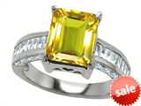 Original Star K™ 10x8mm Emerald Cut Simulated Citrine Engagement Ring style: 308740