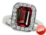 Original Star K™ 10x8mm Emerald Cut Simulated Garnet Engagement Ring style: 308741