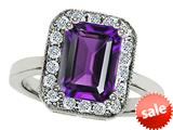 Original Star K™ 10x8mm Emerald Cut Simulated Amethyst Engagement Ring style: 308742