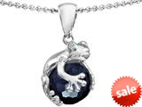 Original Star K™ Frog Pendant With 10mm Simulated Black Onyx Ball style: 308744