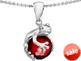 Original Star K™ Frog Pendant With 10mm Simulated Garnet Ball style: 308746