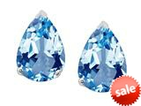 Original Star K™ 8x6mm Pear Shape Simulated Aquamarine Earrings Studs style: 308756