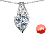 Original Star K™ Large 10mm Heart Shape Genuine White Topaz Heart Pendant style: 308757