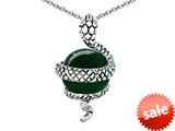 Original Star K™ Large Snake Pendant with 10mm Simulated Emerald Ball style: 308758
