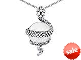 Original Star K™ Large Snake Pendant with 10mm Simulated White Agate Ball style: 308759