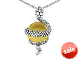 Original Star K™ Large Snake Pendant with 10mm Simulated Citrine Ball style: 308764
