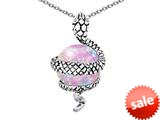 Original Star K™ Large Snake Pendant with 10mm Simulated Pink Opal Ball style: 308771