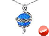 Original Star K™ Large Snake Pendant with 10mm Simulated Blue Opal Ball style: 308772