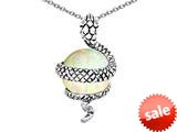 Original Star K™ Large Snake Pendant with 10mm Simulated Opal Ball style: 308773