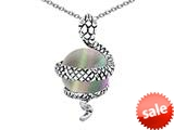 Original Star K™ Large Snake Pendant with 10mm Simulated Rainbow Mystic Topaz Ball style: 308774