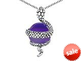Original Star K™ Large Snake Pendant with 10mm Simulated Amethyst Ball style: 308776