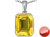 Original Star K™ Emerald Cut 10x8mm Simulated Citrine Pendant style: 308782