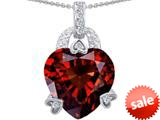 Original Star K™ Large Heart Shape 13mm Simulated Garnet Designer Pendant style: 308790