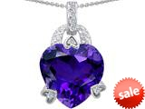 Original Star K™ Large Heart Shape 13mm Simulated Amethyst Designer Pendant style: 308792