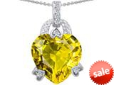 Original Star K™ Large Heart Shape 13mm Simulated Citrine Designer Pendant style: 308794