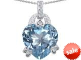 Original Star K™ Large Heart Shape 13mm Simulated Aquamarine Designer Pendant style: 308795