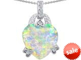 Original Star K™ Large Heart Shape 13mm Simulated Opal Designer Pendant style: 308798