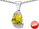 Original Star K™ Heart Shape 8mm Simulated Citrine Love Pendant style: 308805