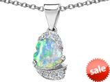 Original Star K™ Heart Shape 8mm Created Opal Love Pendant style: 308806