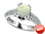 Original Star K™ Round Simulated Opal Engagement Ring style: 308814