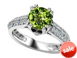 Original Star K™ Round Simulated Peridot Engagement Ring style: 308815
